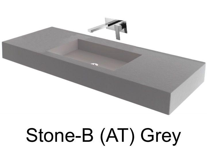 vasques largeur 80 plan vasque suspendue ou encastrer largeur 80 cm en r sine stone avec. Black Bedroom Furniture Sets. Home Design Ideas