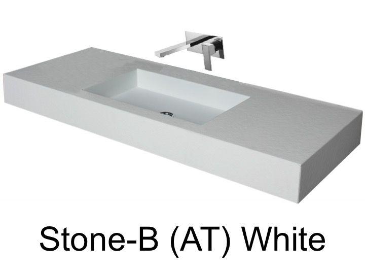 vasques largeur 90 plan vasque suspendue ou encastrer largeur 90 cm en r sine stone avec. Black Bedroom Furniture Sets. Home Design Ideas