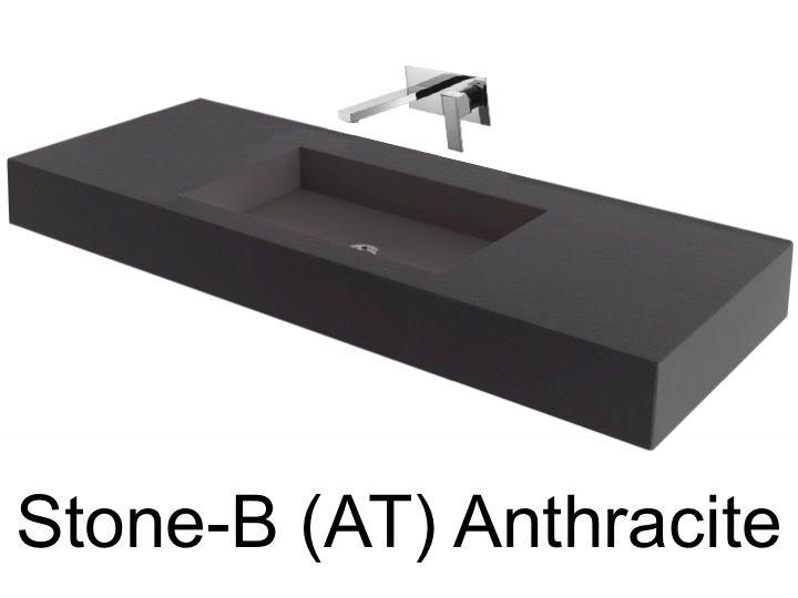 Vasques largeur 85 plan vasque suspendue ou encastrer - Resine murale salle de bain ...