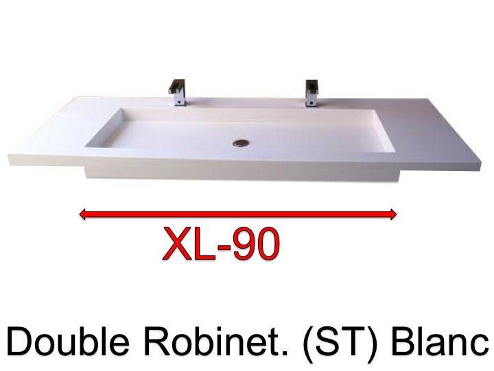 vasques largeur 100 plan vasque suspendue ou encastrer double robinetterie largeur 100 cm. Black Bedroom Furniture Sets. Home Design Ideas