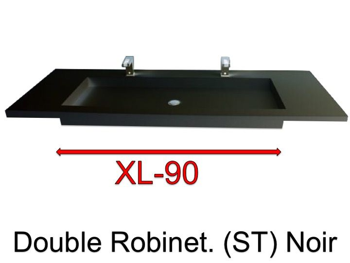 Vasques Largeur 110 - Plan vasque suspendue ou à encastrer double ...
