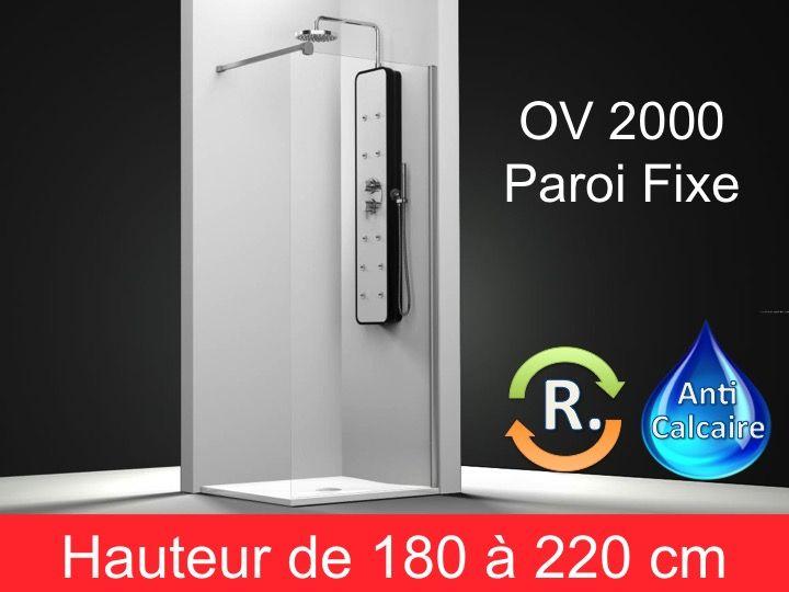 paroi de douche longueur 160 paroi de douche fixe 160 cm hauteur de 180 220 cm ov2000. Black Bedroom Furniture Sets. Home Design Ideas