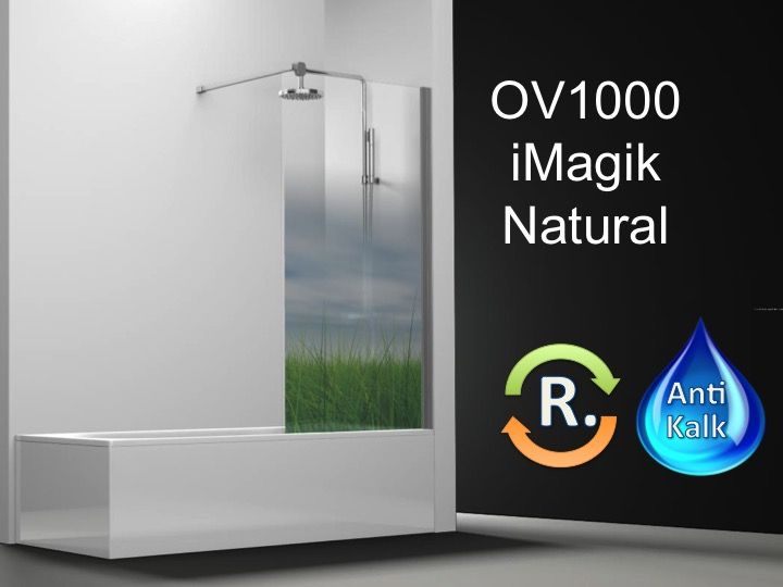 paroi de douche longueur 50 pare baignoire panneau fixe 50 cm imagik natural hauteur de 100. Black Bedroom Furniture Sets. Home Design Ideas