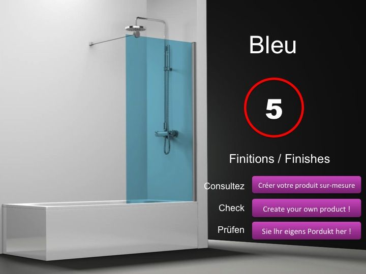 paroi de douche longueur 50 pare baignoire panneau fixe. Black Bedroom Furniture Sets. Home Design Ideas