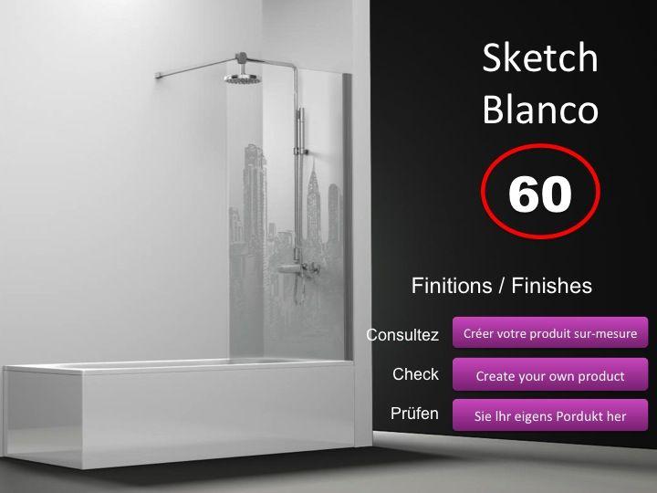 paroi de douche longueur 60 pare baignoire panneau fixe 60 cm imagik cosmopolita hauteur de. Black Bedroom Furniture Sets. Home Design Ideas