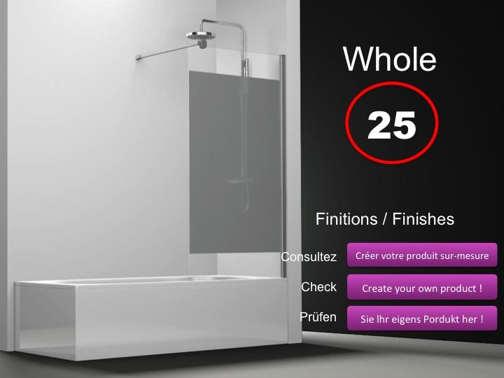 paroi de douche longueur 60 pare baignoire panneau fixe 60 cm s rigraphy hauteur de 100. Black Bedroom Furniture Sets. Home Design Ideas