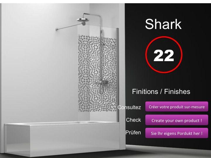 Paroi de douche longueur 60 pare baignoire panneau fixe for Baignoire profondeur 60 cm