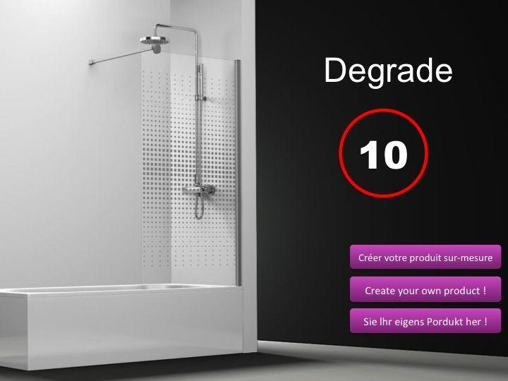 paroi de douche longueur 70 pare baignoire panneau fixe. Black Bedroom Furniture Sets. Home Design Ideas
