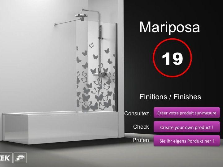Paroi de douche longueur 100 pare baignoire panneau fixe for Baignoire profondeur 60 cm