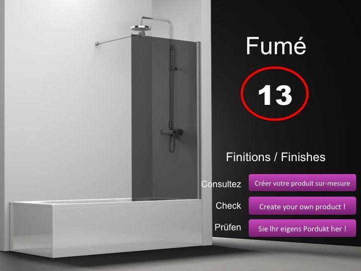 paroi de douche longueur 85 pare baignoire panneau fixe. Black Bedroom Furniture Sets. Home Design Ideas