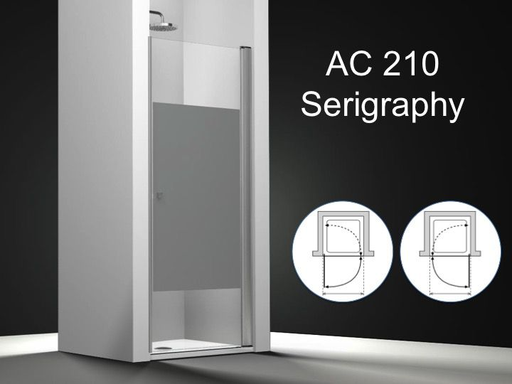 Paroi de douche longueur 40 porte de douche pivotante for Porte de douche en verre sur mesure