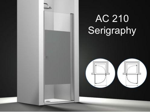 Paroi de douche longueur 40 porte de douche pivotante 40x195 cm ouverture int rieur ext rieur - Porte douche serigraphie ...