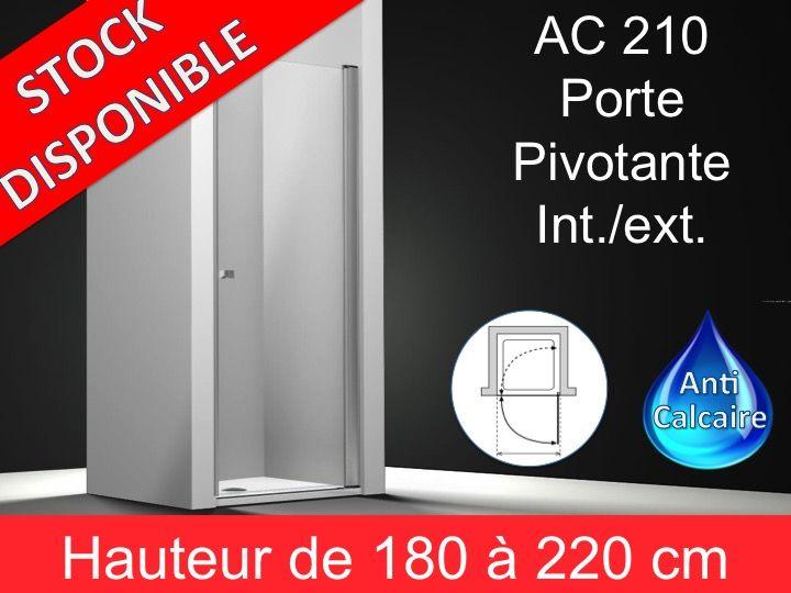 Paroi de douche longueur 60 porte de douche pivotante 60 for Porte de douche largeur 60 cm