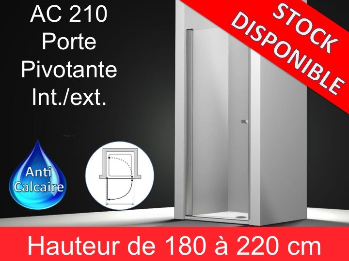 Paroi de douche longueur 70 porte de douche pivotante 70 cm fixation gauche hauteur de 180 - Porte de service hauteur 180 ...