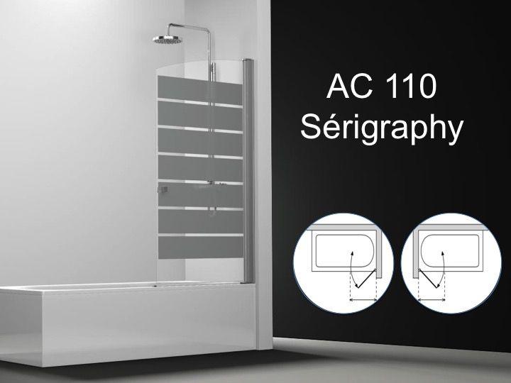 paroi de douche longueur 40 pare baignoire battant 40 cm fixation droite d coration sabl. Black Bedroom Furniture Sets. Home Design Ideas