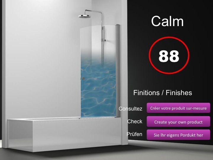Paroi de douche longueur 70 pare baignoire battant 70 cm for Mesure standard baignoire