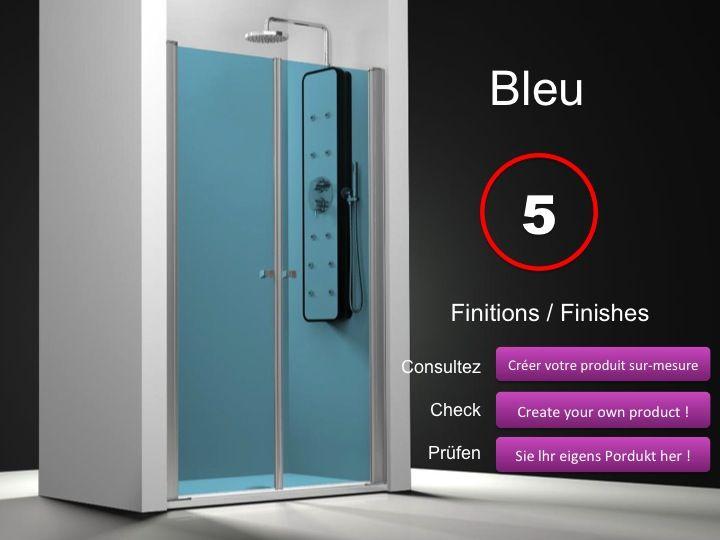 paroi de douche longueur 60 double porte de douche pivotante mod le saloon 60 cm hauteur de. Black Bedroom Furniture Sets. Home Design Ideas