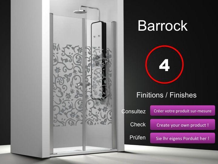 Paroi de douche longueur 65 double porte de douche pivotante mod le saloon - Dimension double porte ...
