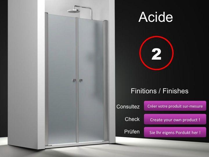 Paroi de douche longueur 75 double porte de douche - Porte douche pivotant ...