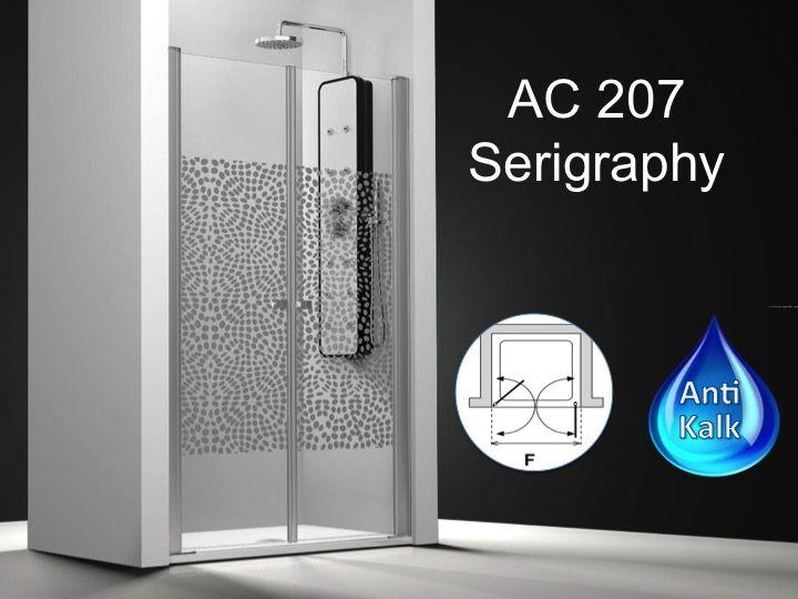 paroi de douche longueur 110 double porte de douche double pivotant mod le saloon 110 cm. Black Bedroom Furniture Sets. Home Design Ideas
