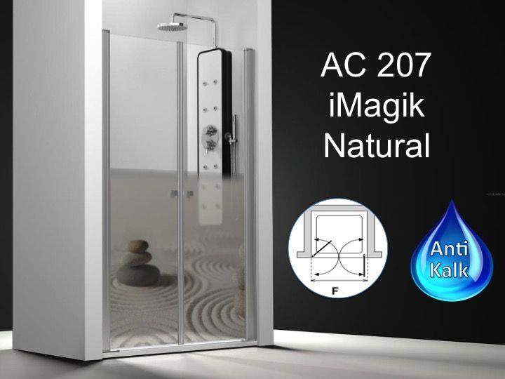 paroi de douche longueur 130 double porte de douche pivotante mod le saloon 130 cm imagik. Black Bedroom Furniture Sets. Home Design Ideas
