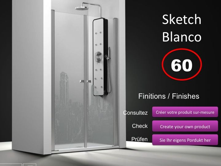 paroi de douche longueur 140 double porte de douche pivotante mod le saloon 140 cm imagik. Black Bedroom Furniture Sets. Home Design Ideas