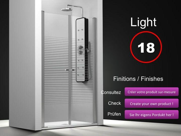 Paroi de douche longueur 200 double porte de douche for Porte douche pivotant