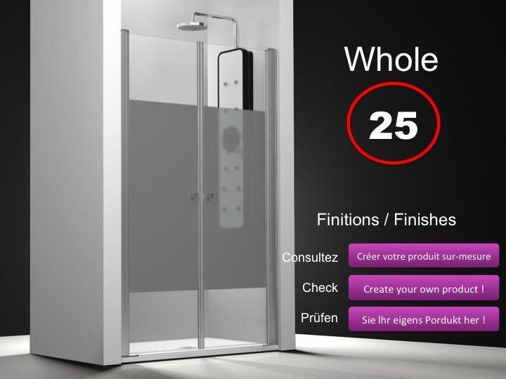 Paroi Douche 180 Hauteur paroi de douche longueur 95 - double porte de douche double pivotant