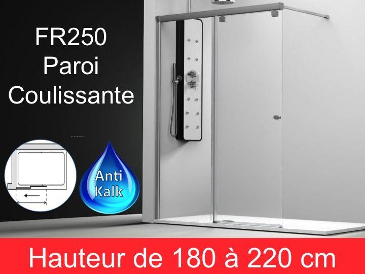 Paroi de douche longueur 70 paroi de douche coulissante 70x195 cm fixation gauche hauteur - Paroi douche 180 cm hauteur ...