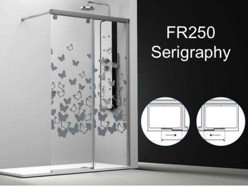 paroi de douche longueur 120 paroi de douche coulissante 120 x195 cm d coration s rigraphie. Black Bedroom Furniture Sets. Home Design Ideas