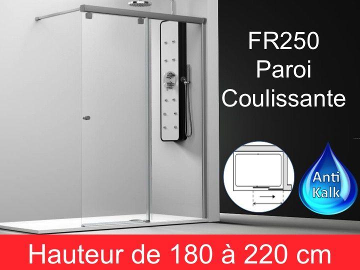 paroi de douche longueur 130 paroi de douche coulissante 130 x195 cm fixation droite. Black Bedroom Furniture Sets. Home Design Ideas
