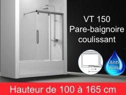 Paroi de douche largeur 130 cm pour salle de bain
