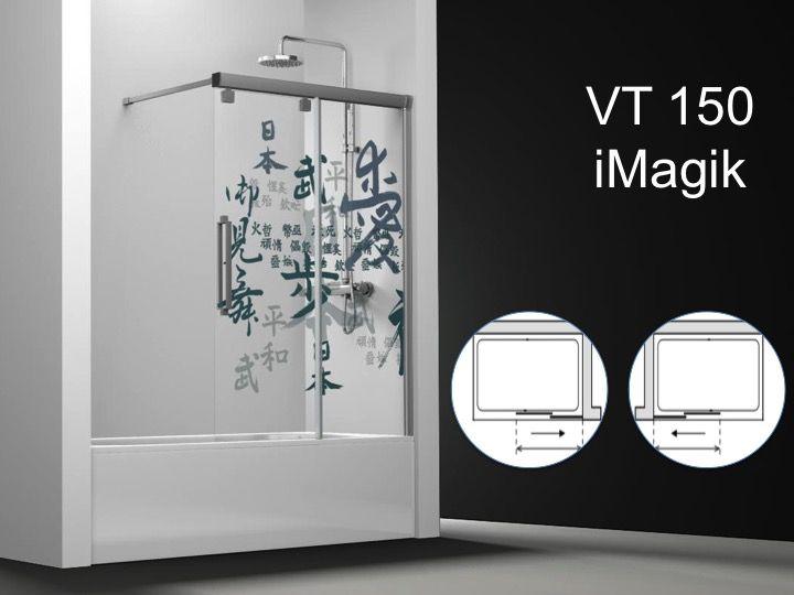 paroi de douche longueur 135 pare baignoire coulissant 135 cm fixation droite imprim. Black Bedroom Furniture Sets. Home Design Ideas
