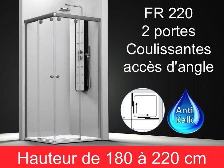 Paroi de douche longueur 90 paroi de douche acc s d 39 angle 90x90 cm hauteur de 180 220 cm - Paroi douche 180 cm hauteur ...