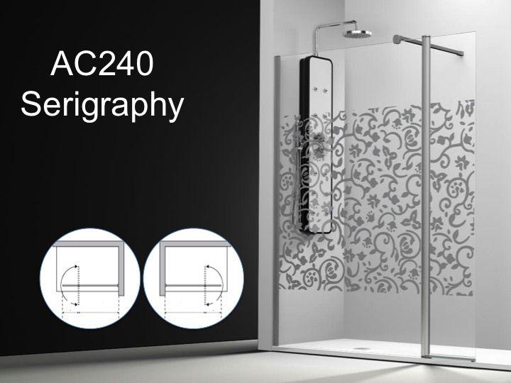 Paroi de douche longueur 95 paroi de douche 95 plus 35cm un panneau fixe - Paroi douche serigraphie ...