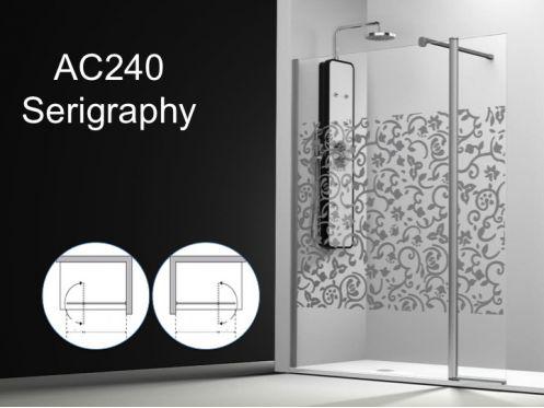 paroi de douche longueur 115 paroi de douche 115 plus 35cm un panneau fixe avec un panneau. Black Bedroom Furniture Sets. Home Design Ideas