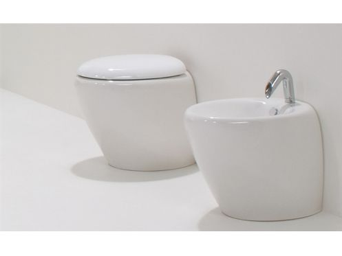 Cuvette WC Design, Touch blanc