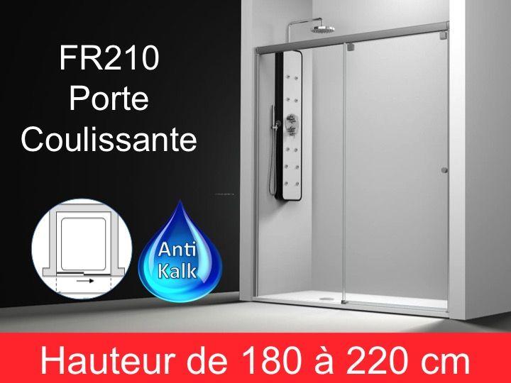 Paroi de douche longueur 130 porte de douche coulissante for Porte de douche hauteur 180