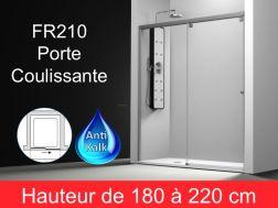 Paroi de douche largeur 130 cm pour salle de bain - Porte coulissante pour douche de 130 cm ...