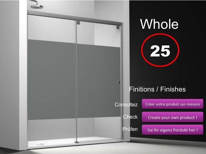 Paroi de douche longueur 170 porte de douche coulissante 170 cm d cor s rigraphie fixation - Porte douche serigraphie ...