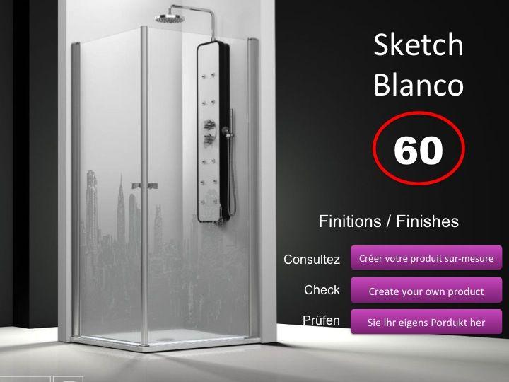 paroi de douche longueur 55 porte de douche acc s d 39 angle 55x55 cm d cor imagik cosmo. Black Bedroom Furniture Sets. Home Design Ideas
