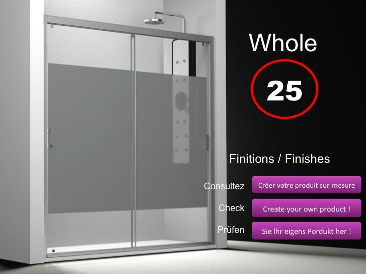 Paroi de douche longueur 110 porte de douche 2 panneaux - Porte de douche 110 cm ...