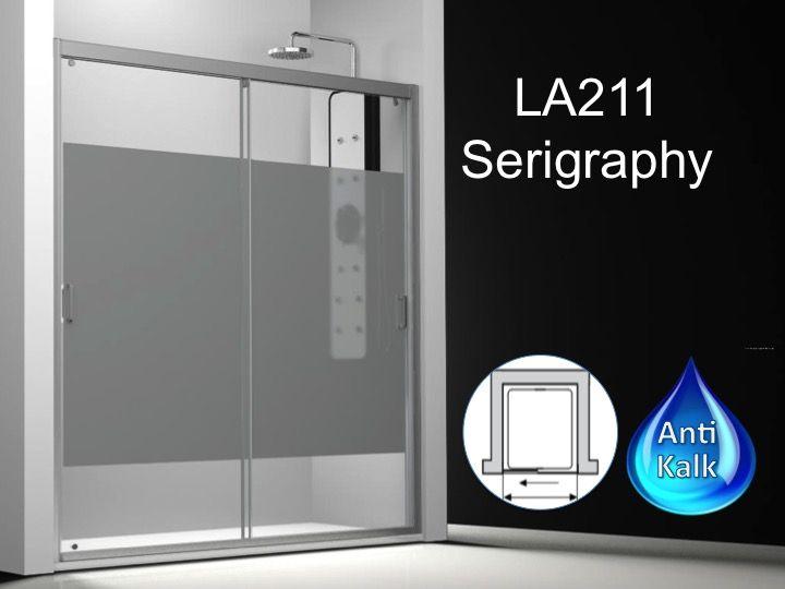 paroi de douche longueur 120 porte de douche 2 panneaux coulissants 120 cm d cor s rigraphie. Black Bedroom Furniture Sets. Home Design Ideas