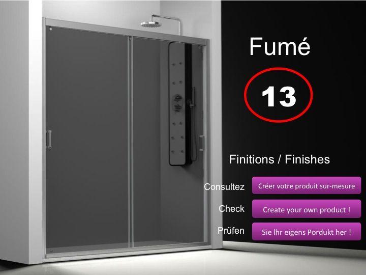 Paroi de douche longueur 140 porte de douche 2 panneaux for Porte de douche 180 cm
