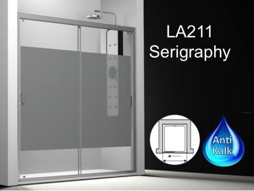 Paroi de douche longueur 150 porte de douche 2 panneaux for Porte de douche hauteur 170
