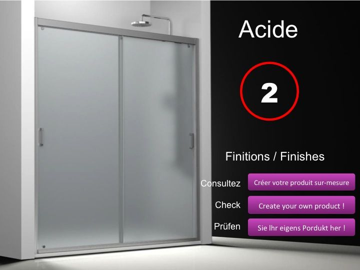 Paroi de douche longueur 160 porte de douche 2 panneaux for Porte de douche 180 cm