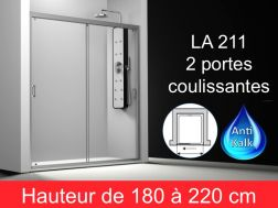 Paroi de douche largeur 170 cm170x180 170x185 170x190 for Porte de douche hauteur 170