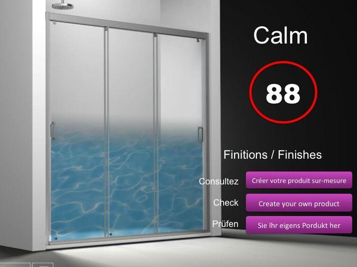 Paroi de douche longueur 110 porte de douche 3 panneaux for Porte de douche 110