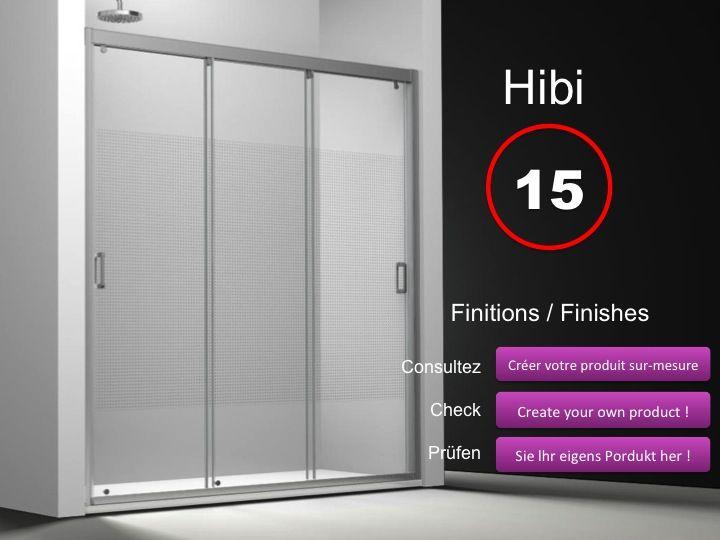 Paroi de douche longueur 165 porte de douche 3 panneaux for Porte 3 panneaux