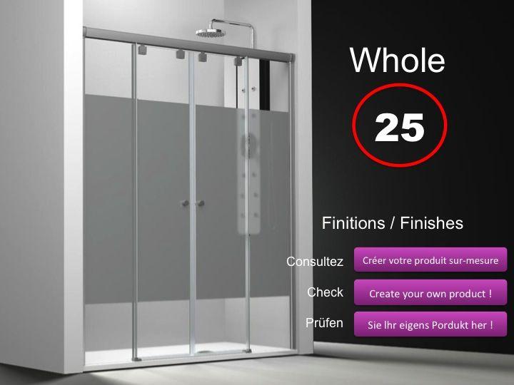 paroi de douche longueur 120 paroi de douche 4 panneaux 2 portes centrales coulissantes 120. Black Bedroom Furniture Sets. Home Design Ideas